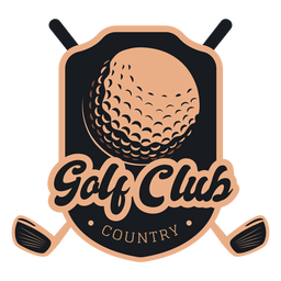 Golf club country ball club logo