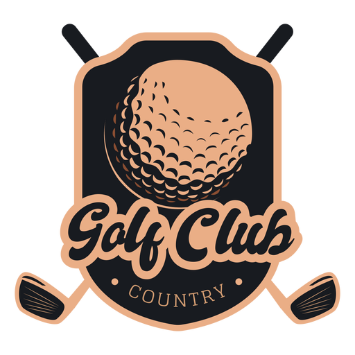 Golf club country ball club logo Transparent PNG