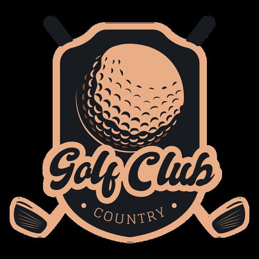 Golf club country ball club logo
