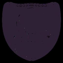 Clube de golfe desde 1979 rótulo de distintivo de ramo de bola