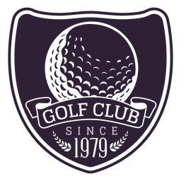 Pegatina de la rama de la bola desde el club de golf desde 1979