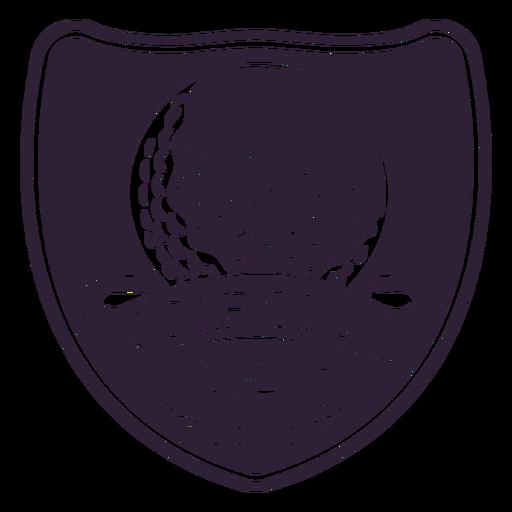 Clube de golfe desde 1979 rótulo de distintivo de ramo de bola Transparent PNG