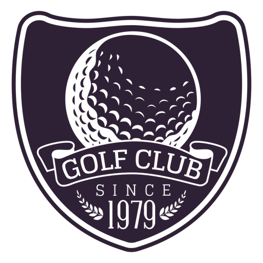 Golf club since 1979 ball branch badge sticker Transparent PNG