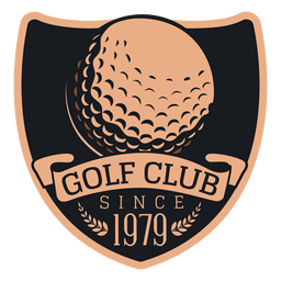 Club de golf desde 1979 bola rama logo