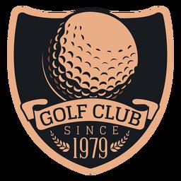 Club de golf desde 1979 logotipo de rama de bola