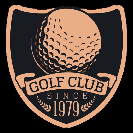 Golf club since 1979 ball branch logo Transparent PNG