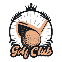 Golf club ball club crown logo