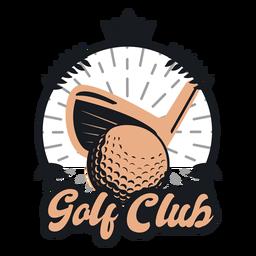 Logotipo de coroa de clube de bola de golfe