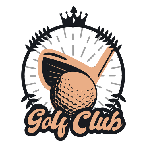 Club de golf bola club corona logo Transparent PNG