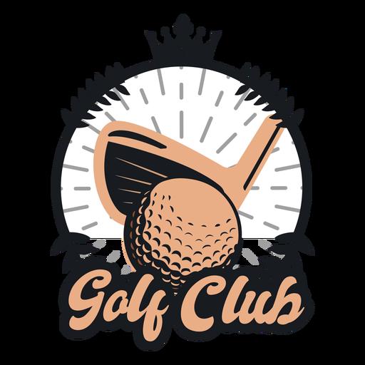 Logotipo de coroa de clube de bola de golfe Transparent PNG