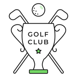 Golf club ball club cup colored badge sticker