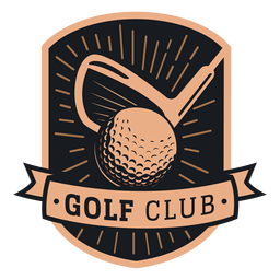 Logotipo do clube de bola de golfe