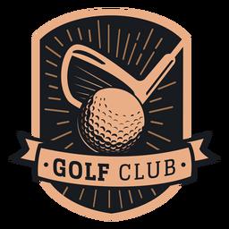 Logotipo do clube de bola do clube de golfe