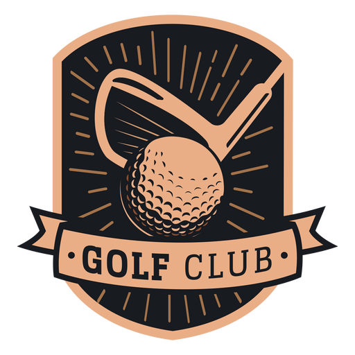 Logotipo do clube de bola de golfe Transparent PNG