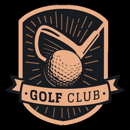 Logotipo do clube de bola do clube de golfe Transparent PNG