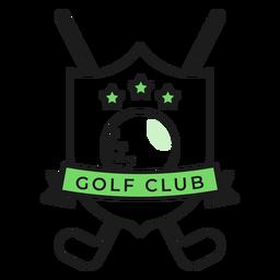 Adesivo de distintivo colorido de estrela de clube de bola de golfe
