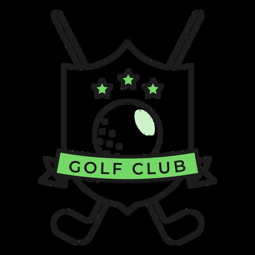Etiqueta do emblema colorido da estrela do clube da bola do clube de golfe Transparent PNG