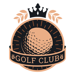 Golf club ball crown branch logo