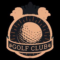 Logotipo de ramo de coroa de bola de clube de golfe