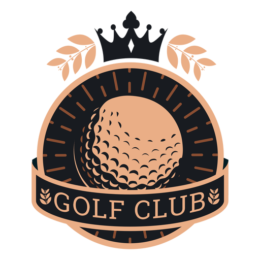 Club de golf pelota corona logo Transparent PNG