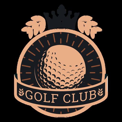 Logotipo de ramo de coroa de bola de clube de golfe Transparent PNG