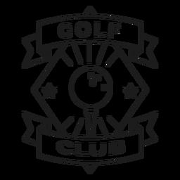 Curso de distintivo de estrela de bola de clube de golfe