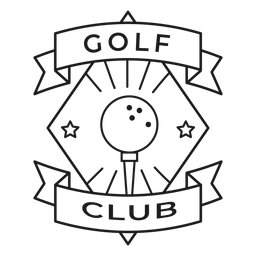 Golf club ball star badge stroke