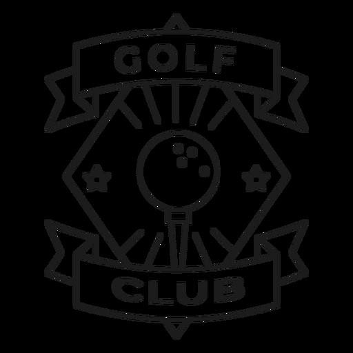Club de golf bola estrella insignia trazo Transparent PNG