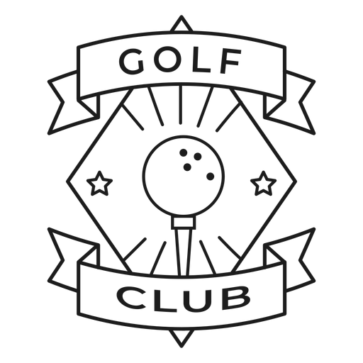 Golf club ball star badge stroke Transparent PNG