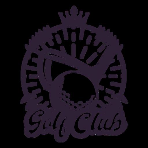 Etiqueta engomada de la insignia de la corona de la bola de la rama del club de golf Transparent PNG