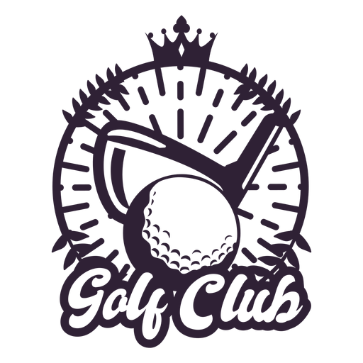 Golf club branch ball crown badge sticker Transparent PNG