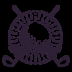 Etiqueta engomada de la insignia del círculo de la bola del club del club de golf
