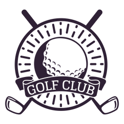 Pegatina de la insignia del círculo de la bola del club del club de golf
