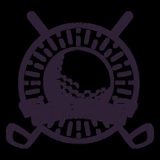 Pegatina de la insignia del círculo de la bola del club del club de golf Transparent PNG