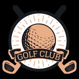 Logotipo de bola de clube de golfe
