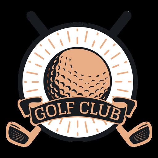 Logotipo de bola de clube de golfe Transparent PNG