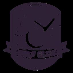 Etiqueta do emblema da flâmula da bola do clube de golfe