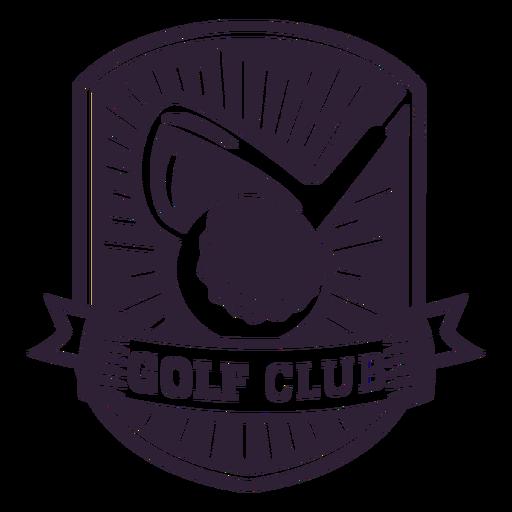 Etiqueta do emblema da flâmula da bola do clube de golfe Transparent PNG