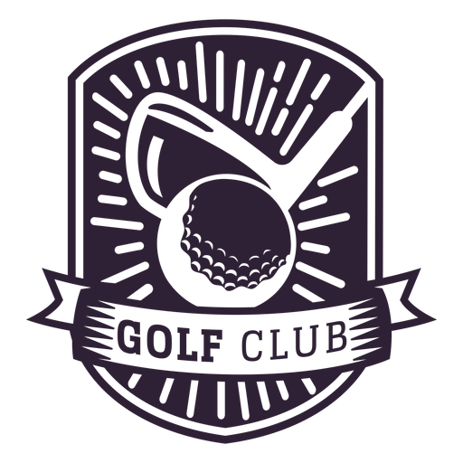 Golf club club ball pennant badge sticker Transparent PNG