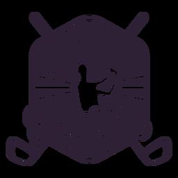 Autocolante de distintivo de jogador de clube de golfe