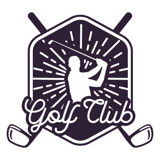 Golf club club player badge sticker Transparent PNG