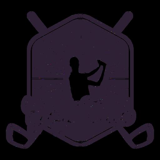 Pegatina de la insignia del jugador de club del club de golf Transparent PNG