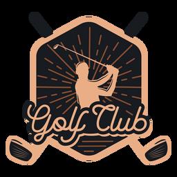 Club de golf club jugador logo
