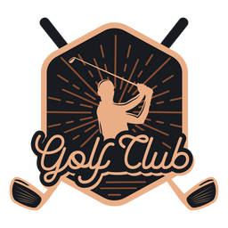 Logotipo do clube de clube de golfe