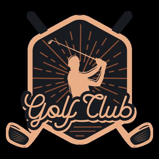 Club de golf club jugador logo Transparent PNG