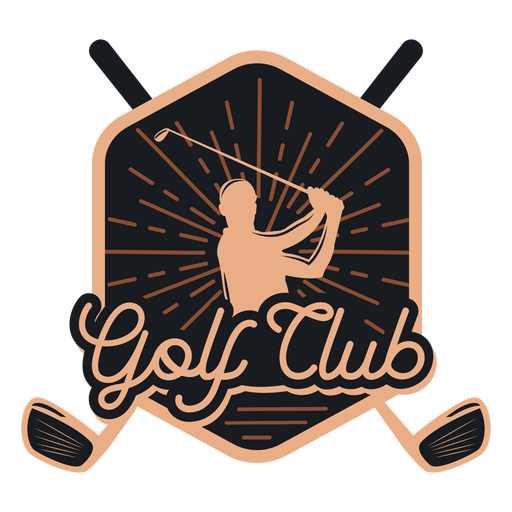 Logotipo do clube de clube de golfe Transparent PNG