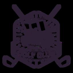Etiqueta do emblema do carrinho de golfe da roda do clube de golfe