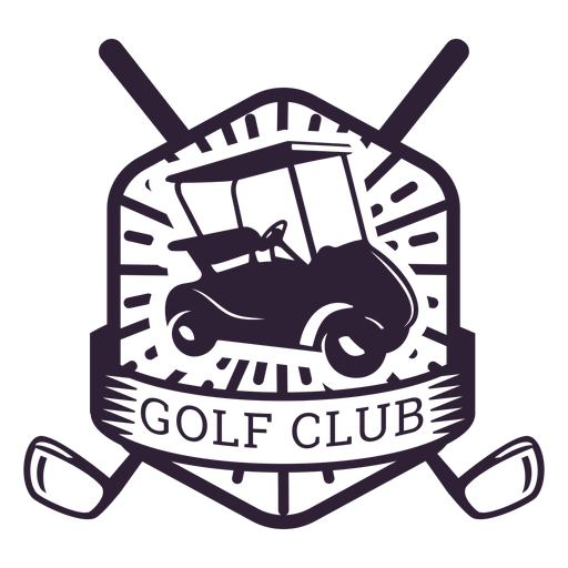 Etiqueta do emblema do carrinho de golfe da roda do clube de golfe Transparent PNG