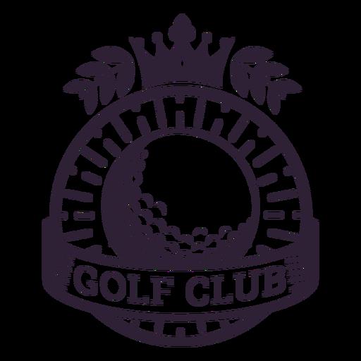 Etiqueta do emblema do ramo da bola da coroa do clube de golfe Transparent PNG