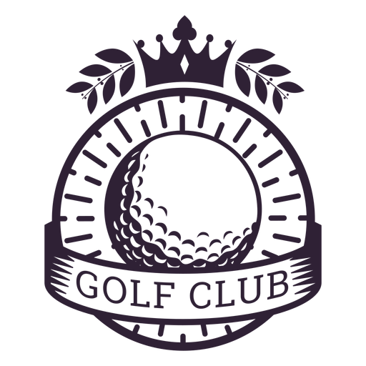 Golf club crown ball branch badge sticker Transparent PNG